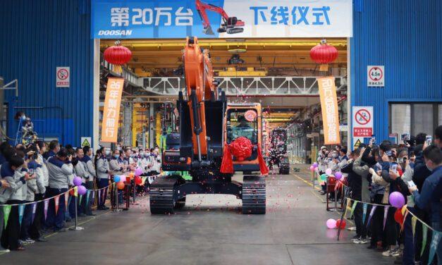 Doosan Infracore: a quota 200.000 escavatori prodotti in Cina