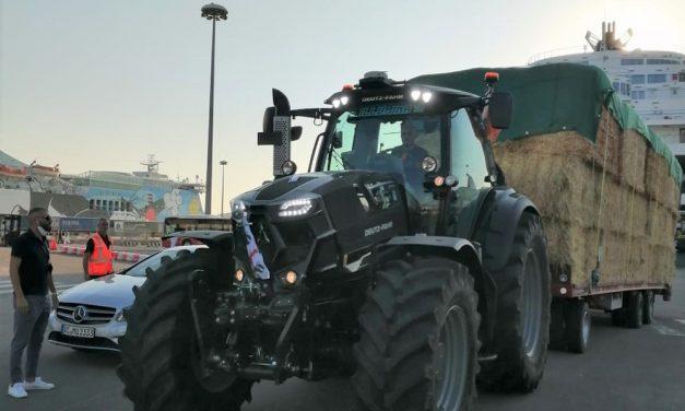 Deutz-Fahr: gli aiuti arrivano con il trattore, da Padova a Nuoro
