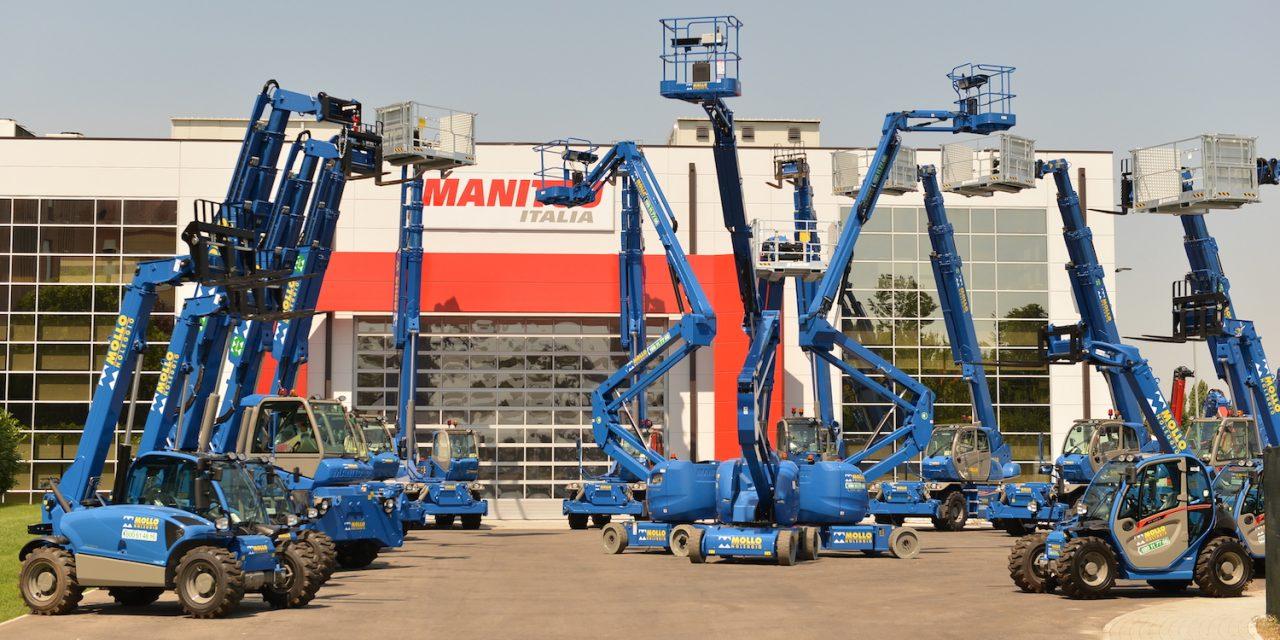 Mollo Noleggio: concluso l'acquisto di 160 nuovi mezzi Manitou